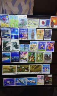 Japan stamps collection lot scenary 33 pcs