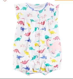 *9M* BN Carter's Snap Up Cotton Romper For Baby Girl