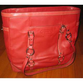 Genuine Red Coach bag in leather