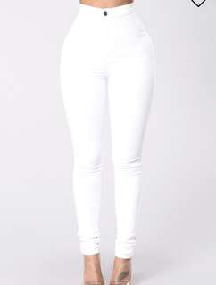 Fashionnova White High Waist Jeans