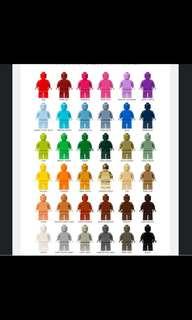 36 PCS ORIGINAL LEGO MONOCHROME MONOFIGS MINIFIGS MINIFIGURES NEW UNUSED RARE