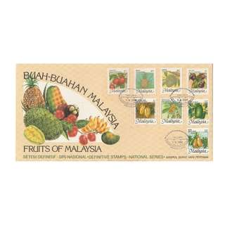 Malaysia 1986 National Fruits Series (High Definitives) FDC SG#344-347e/ISC#MFDC-126