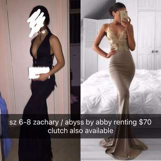 Zachary / Abyss by Abby size 6-8 formal dress