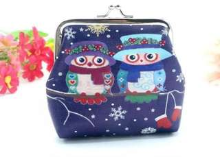 BN Cute Winter Owl Clutch Coin Purse