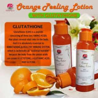 orange peeling lotion with glutathion
