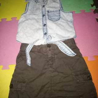Take all Top and Skirt(Size 5-6y/o)