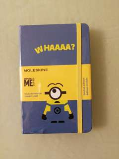 "Minions ""WHAAAA?"" notes book 記事簿"