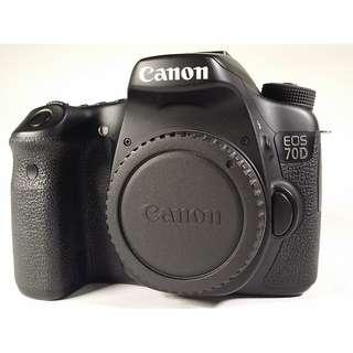 Canon EOS 70D 盒裝 保卡 說明書 背帶 充電器 電池1 公(CB012)