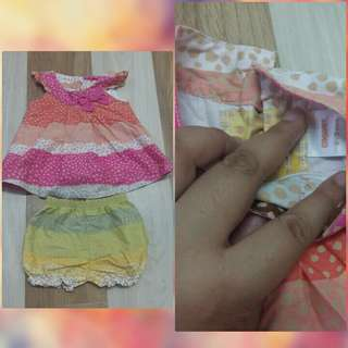 Preloved Pastel baby dress