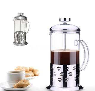 Stainless Steel French Press Coffee Tea Maker 600ml