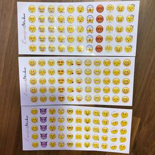 Set of 3 Emoji Stickers
