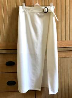 Brand New White Long Skirt with Slit