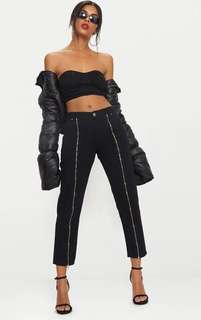 Black Zip Up Leg Mom Jeans