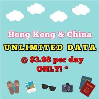 *OOS* [UNLIMITED DATA] HONG KONG & CHINA DATA SIM CARD