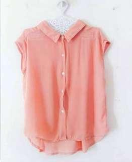 Korean peach blouse