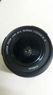 Canon lens EFs 18-55 1.3.5 - 5.6 Is II Taiwan