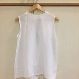 White Basic Long Tank