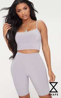 Shape Grey Sunny Strappy Crop Top
