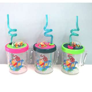 Winnie the Pooh Cups with Straw