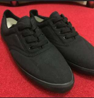 AllBlack Shoes canvas