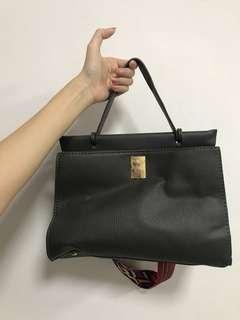 Grey Tribal Bag with Gold Turn Stud Closure