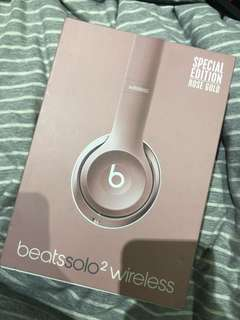 Beats solo 2 wireless special edition rose gold