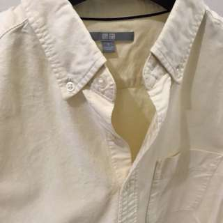 Uniqlo Oxford Long Sleeve Polo