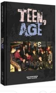 Teen Age 2nd Album Seventeen Kpop Album (used)