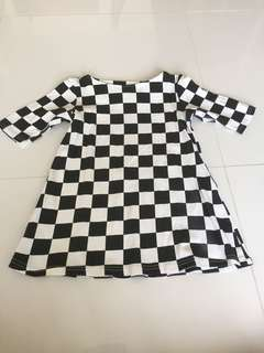 Black & white checkered dress