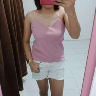 Pink Solenn Spagetti top