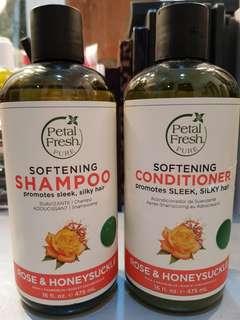 Petal fresh pure softening shampoo & softening conditioner