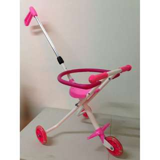 Magic Stroller with Ring (3 Wheel, Pink)