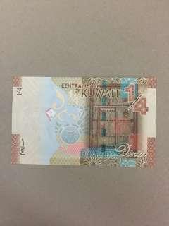 Kuwait 1/4 D gem unc 科威特¼D 頂級直