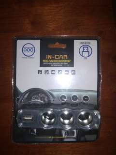 Triple Socket and USB for car