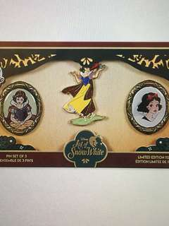 白雪公主pins limited edition 1150 set of 3, Snow White le pins Disney