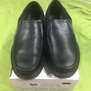 Black Slip On Smart Leather Shoes: ON SALE