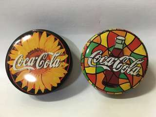 Coca Cola metal containers