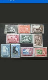 Malaya 1957 Malacca Queen Elizabeth II Loose Set Short Of $5 - 10v MNH Stamps
