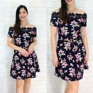 Floral dress freesize S to L