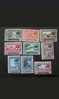 Malaya 1960 Malacca Trees Loose Set Short Of $2 & $5 - 9v MNH Stamps