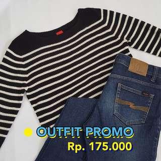 PROMO COMBO - Esprit Stripes Shirt & Nudie Jeans
