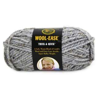 Lion Brand Yarns Wool-Ease Thick & Quick (Shade: Grey Marble 154)