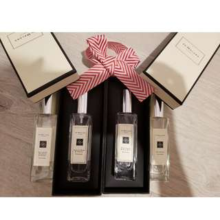 4月新updated  jo malone jomalone 祖馬龍香水 30ML 30ML : eng pear, honey, bluebell, sea salt, lime basil, red rose  包盒包package, 全有現貨,順風到付