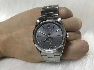 Rolex Air King Oyster Perpetual男裝勞力士灰面