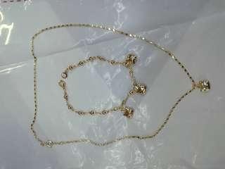 Hello Kitty Necklace & Bracelet