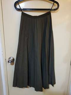 Dark green long skirt