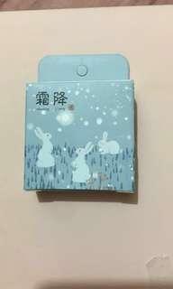Mt 膠紙 冬日感覺 降雪 兔仔 動物