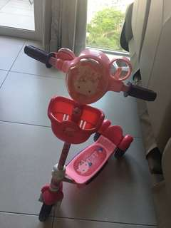 Toddler hello kitty scooter