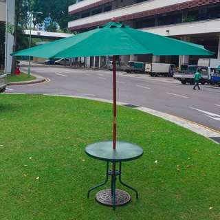100% Brand New Parasol Umbrella with round table offer @ $250