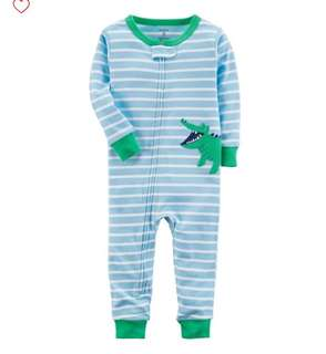 *12M* Brand New Carter's Snug Fit Cotton Footless PJs For Baby Boy